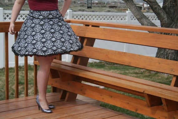 Custom Retro Skirt- Trimmed