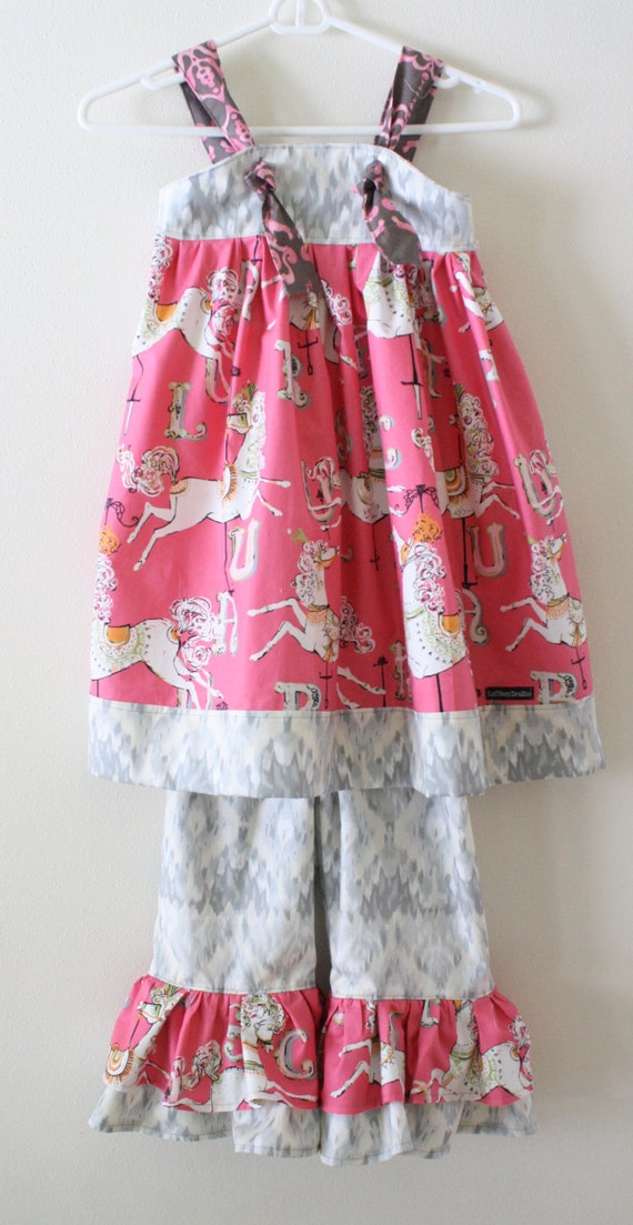 Dear Stella Carousel Knot Dress:  Made to Order, Size 6-12m or 12-18m