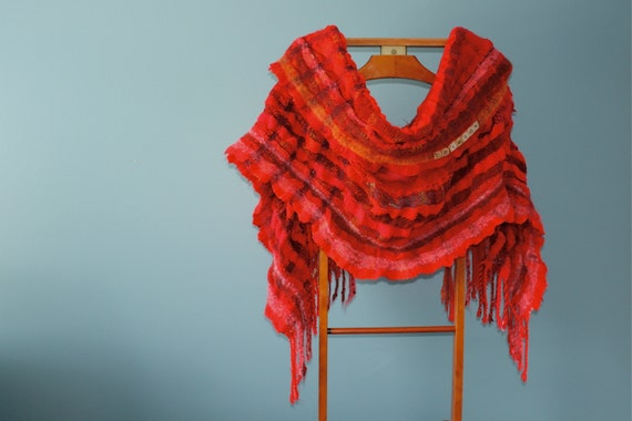 Crimson, a Large Wrap in very bright red