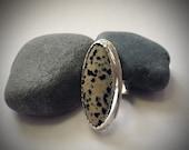 Dalmation Jasper Cocktail Ring