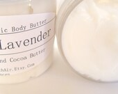 Lavender  Shea Cocoa Body Butter Balm - Sweet Earthy Essential Oil Lotion Travel Size - ABreathOfFrenchAir
