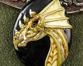 NEW Lampwork  Dragon Focal Bead by Kerribeads - kerribeads