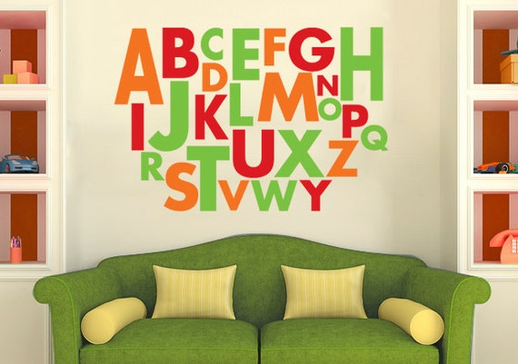 Large Alphabet Wall Decal Vinyl Alphabet