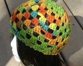 Hand Crochet Womens Hat - The Juliet Cap in Hot - READY TO SHIP - Womens Fashion - Womens Accessories