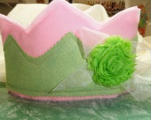 Princess Crown, Pink and Pistachio Crown, Birthday Crown, Crown for Girls - KathyDee