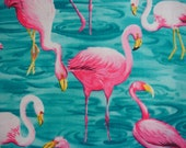 RESERVED for REBECCA Fit To Print Flamingo Fabric Reef KR-28 - KOALACaddie