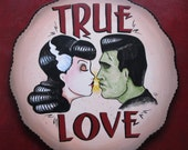 Frankenstein and Bride True Love Art