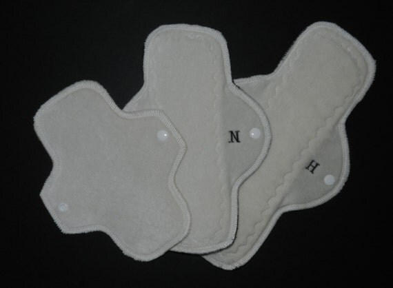 Set of 3 Organic Cloth Pads Trial Pack by MotherMoonPads