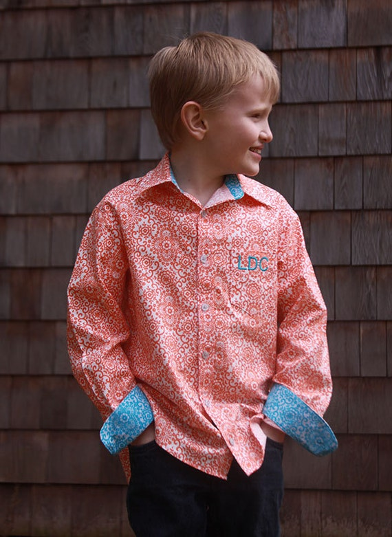 Boys's Button-Up shirt PDF Sewing Pattern - Sis Boom Ethan