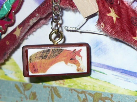 Original Artwork Horse Keychain