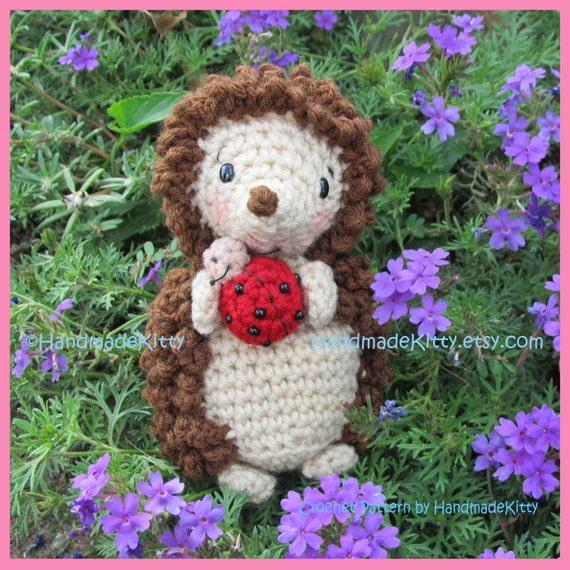 Hedgehog with Little Friend Ladybug  Amigurumi Crochet Pattern by HandmadeKitty