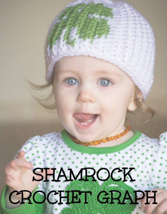 CROCHET GRAPH - Shamrock Color Grid for Crochet or Knit Beanies
