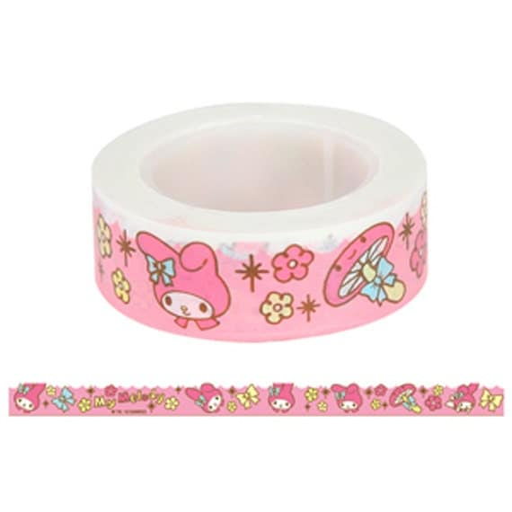 New-Sanrio My Melody Paper Deco Tape / 15mm (Pink)