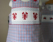 Girls Smocked  Dress  LOBSTERS - reetmomma