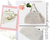 vintage 1960's handmade beaded formal purse handbag
