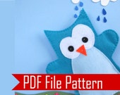 Owl Hand Puppet, PDF Sewing Pattern A508