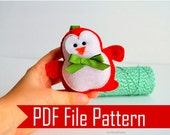 Christmas baby Penguin Ornament  PDF Sewing Pattern A509
