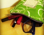 Liliglow Boutique's Green Apple Leaf Small Coin Purse/Makeup Case
