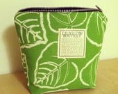 Liliglow Boutique's Green Apple Leaf Medium Makeup Case/Clutch Pouch