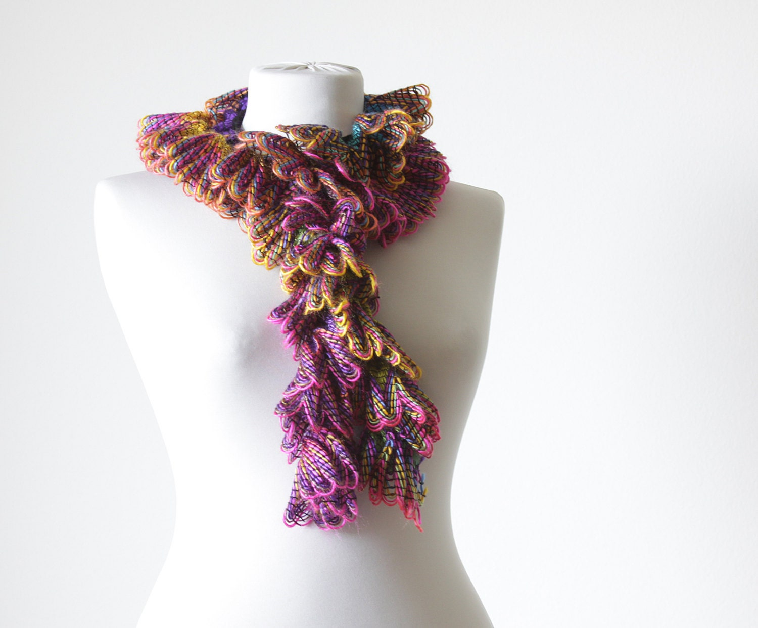 Women Crochet Scarf Accessories Handmade Neck accessory multi color Neck Scarves For Women