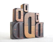 Vintage Letterpress 6 Wooden Alphabet - D Collection -VG245 - vintagemarvels
