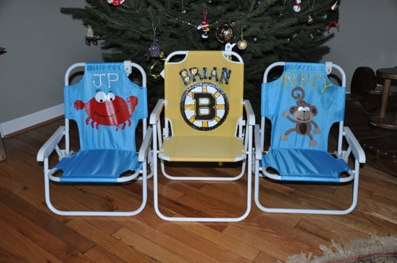 personalized beach chairs. Child\u0027s Beach Chair/Lawn Chair - Personalized With Name Chairs