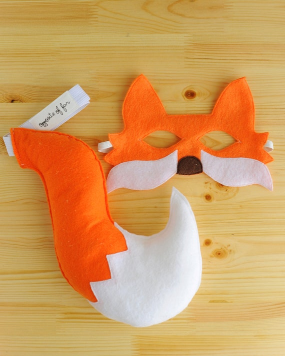 Orange Fox Mask & Tail- ADULT