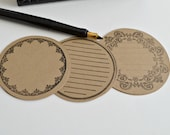 Round Journaling Tags - Round Kraft Tags  (12ct) - PaperWondersShop