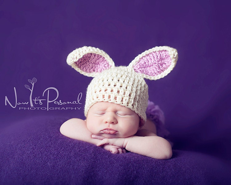 Darla's Bunny Hat - Multiple Sizes - Free.