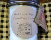 Country Primitive wood  wick Jar Candles         /            Free Shipping on this item