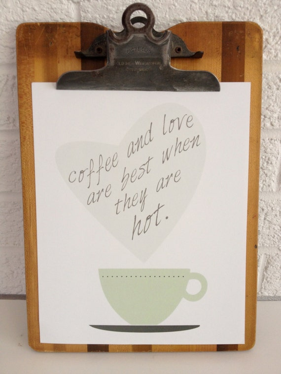 Coffee and Love - Art Print