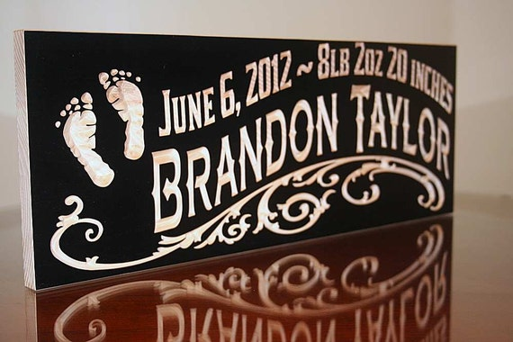 baby signs birth announcement benchmark custom signs