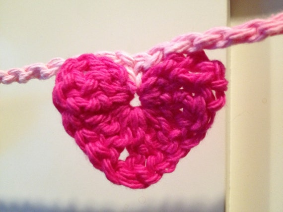 Crocheted Heart Garland, choose one