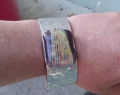 Aluminum Fused Glass Cuff Bracelet