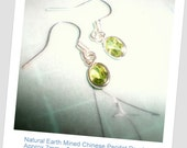 SnazLondon Sterling Silver Peridot Droplet Earrings Natural Earth Mined Chinese Peridot - SnazLondon