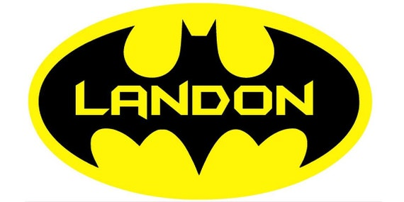 "11"" x 20"" Personalized Batman Wall Sticker Decal"