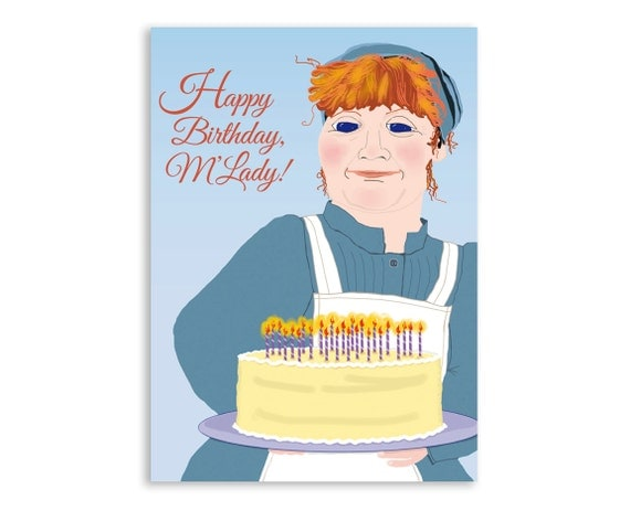 Downton Abbey Birthday Card: Mrs. Patmore's Layer Cake