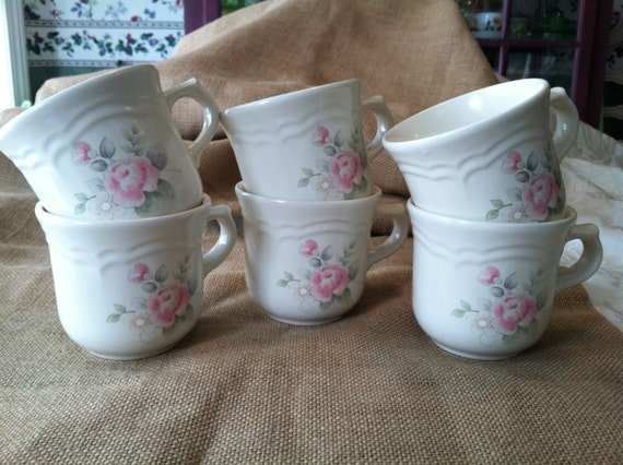 Pfaltzgraff Pair of Tea Rose Cups