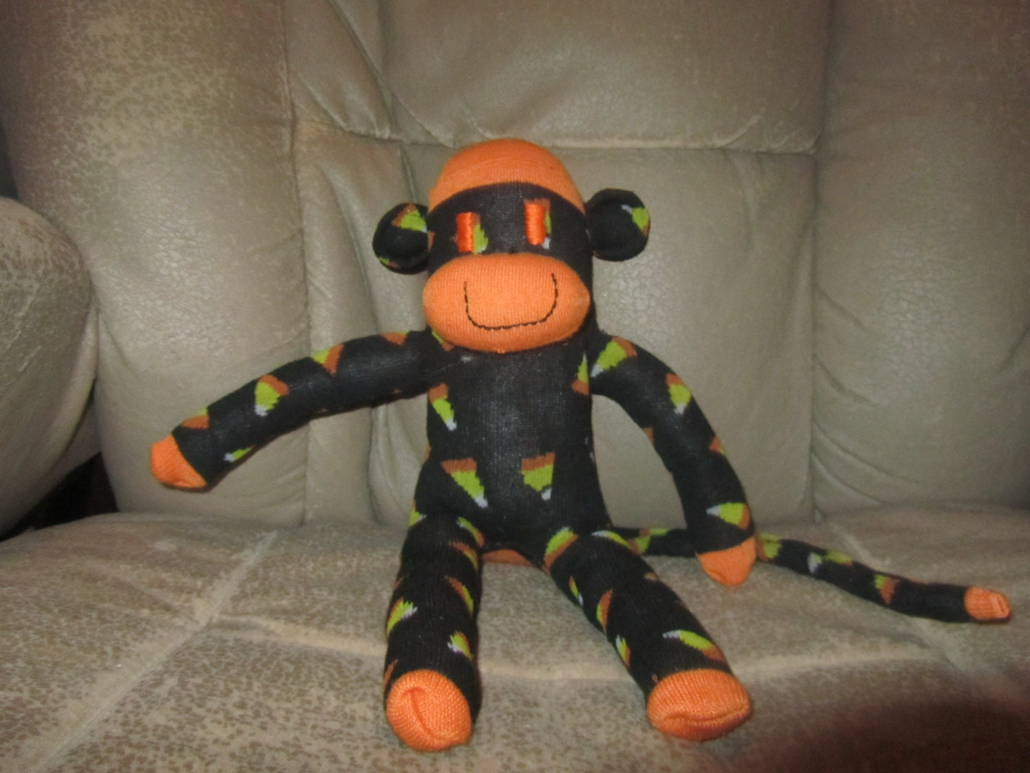 sock monkeyscheryl: halloween sock monkey