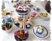 Tea Party Felt Food, Felt Chocolate Sweets, Play Food Desserts - MelsCreativeWishes
