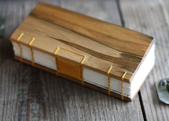 Field journal with leather binding