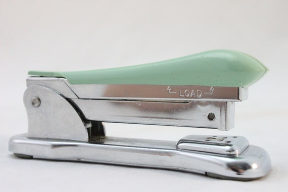 Vintage Mint Green Ace Cadet Stapler