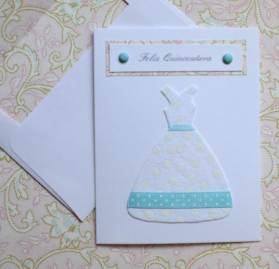 Quinceanera Card / Feliz Quinceanera / 15th Birthday Card