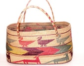 Large Mexican Woven Market Bag - SunsetStars
