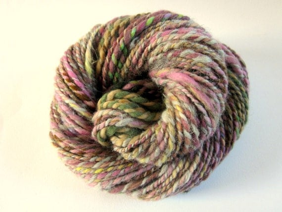 YARNS FOR CHARITY - Handspun merino and alpaca fleece yarn - knitting yarn / wool -  75 yards