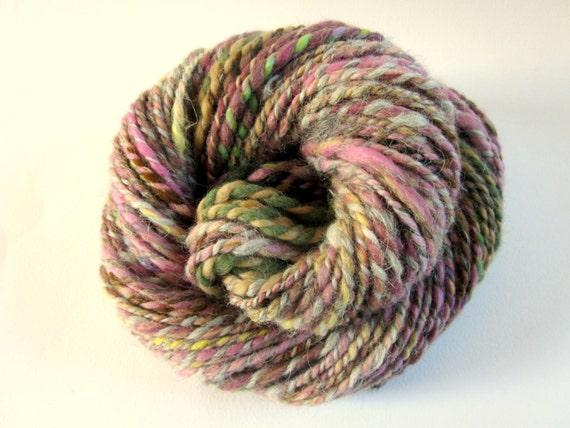 YARNS FOR CHARITY - Handspun merino and alpaca fleece yarn - knitting yarn / wool -  75 yards