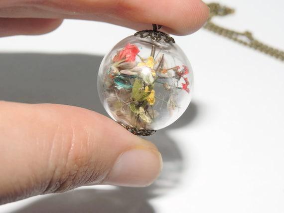 Pressed flower glass globe orb pendant by amazoniaaccessories pressed flower glass globe orb pendant by amazoniaaccessories mozeypictures Images