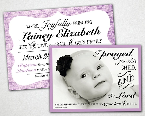 PRINTABLE Baptism Invitation. Christening Invitation. Naming Day Invitation.