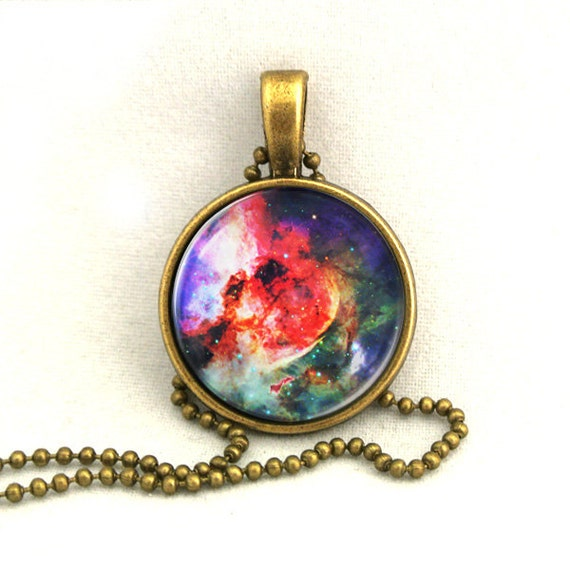 10% SALE Necklace Purple Galaxy Jewelry, Universe, Space, Pendant Necklaces,Constellation,Gift For Her