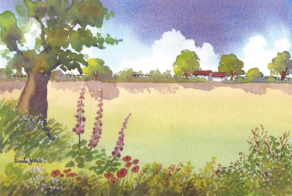 Original Watercolour.....Summer Meadow